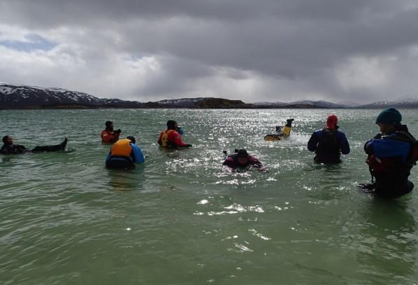 Kvinnligt sällskap på Sommaröya i Troms